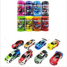 Original 8 Colors 1 : 63 Coke Can Mini Speed Radio Remote Control Micro Car Road Blocks RC Toys Kid's Toys Christmas Gifts(China)