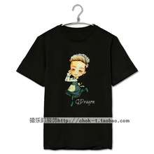 Kpop bigbang concert gd maid image printing t shirt men women fashion cute o neck short sleeve t-shirt plus size top tees