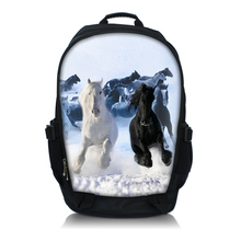 Horses Print 15.6 Inch Netbook / Notebook / Laptop Backpack Bag School Travel Sports Bag Bookbag(China)