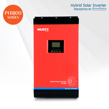MUST POWER PH1800 4KW Pure Sine Wave ON/OFF GRID Hybrid Solar Inverter w/ Built-in 60A MPPT Solar Charge Controller by SolarBaba