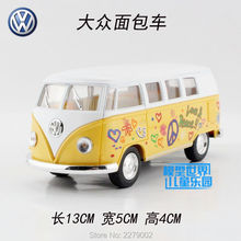 KINSMART DieCast Metal Model/1:32 Scale/1962 Volkswagen Classical Special Bus/Car Toy For children's gift/Educational Collection