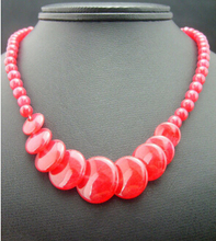 "Jewelr 005307 Beautiful Handmade Natural Red Beads Necklace 17"" AAA(China)"