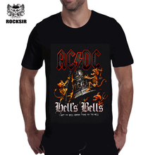 2017 Novelty Design 3d AC DC Bell Skull Mens t-shirts Chain acdc I Got My Bell Gonna Take Ya To Hell Casual Brand 3D Men t shirt