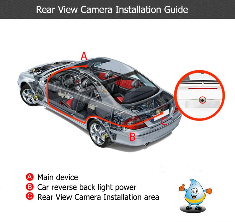 Rear view camera install