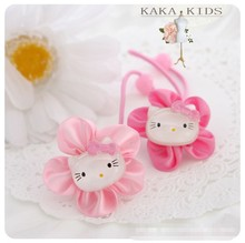 2pcs/lot Plastic Hello kitty hair clip  band rope hairpin children carton sequins kt cat baby girl hair accessories kk1002