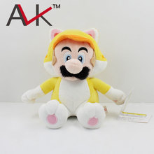 "New Arrival 7""18cm Yellow cat Mario Plush Toy Super Mario 3D World Game Plush Stuffed Doll with tag for kids gift Retail"