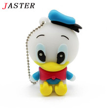 JASTER cartoon role Donald Duck USB Flash Drive cartoon Pen drive 8gb 16gb 32gb  cool Gift Animal pendrives usb creativo