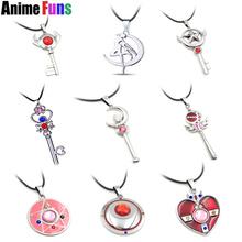 10 types Anime Pretty Soldier Sailor Moon Choker Necklace Guardian Gold Heart Star Magic Wand Crystal Charm Pendant Cardcaptor