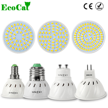ECO CAT Bombillas led 3W 4W 5W 6W AC 220V 110V SMD 2835 5730 LED Spotlight bulbs GU10 for home Energy Saving Lampada lamp(China)
