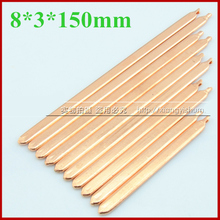 8*3*150mm DIY Laptop PC efficient Heat sink radiator cooling cooler Flat copper heat pipe exchanger tube [within Thermal liquid]