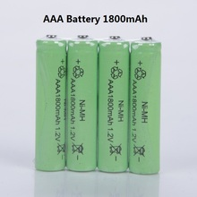 Free shipping 10pcs/lot  AAA battery 1800mAh NiMH AAA rechargeable batteries, toys battery