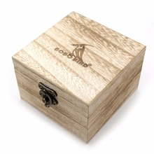 Full Wooden Watch Box Brand Designer Wood Square boxex Accepct Customise Logo for Men or Women without Watch(China)