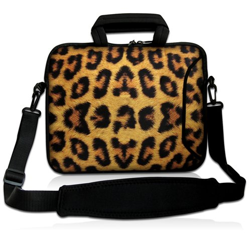 15 Leopard Prints Laptop Shoulder Sleeve Bag Case+Handle,Pocket For 15.6 Dell HP ASUS/15.5 Sony Vaio E Series<br><br>Aliexpress