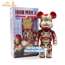 "11""28cm 400% Bearbrick Be@rbrick Movie Iron Man Bearbrick PVC Collectible Model Toy Fashion Toy Gifts A215(China)"