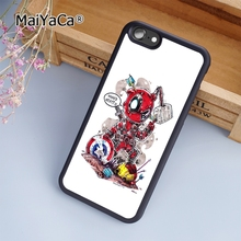 MaiYaCa Deadpool Vs The Avengers Funny Art Marvel soft mobile cell Phone Case Cover For iPhone 7 Plus Custom DIY cases luxury(China)