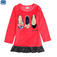 Nova new winter Girls dresses baby girl clothes 2016 nova kids wear children clothes fashion long sleeve child frocks princess(China)