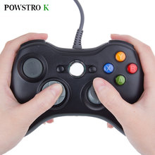 POWSTRO K USB Wired Game Controller Handle For xbox360 Gamepads Joypad Joystick For Xbox 360 Control  Slim Accessory PC Computer