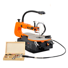 dust free carved straight line model steel wire saw Desk Carpenter 16 inch speed sweep saw(China)