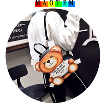 MAOTEM BAG~2017 Summer New Brand Design Women Small Backpack,High Quality Bear Cute Backpacks,Fashion Girls/Kids Mochila Bags