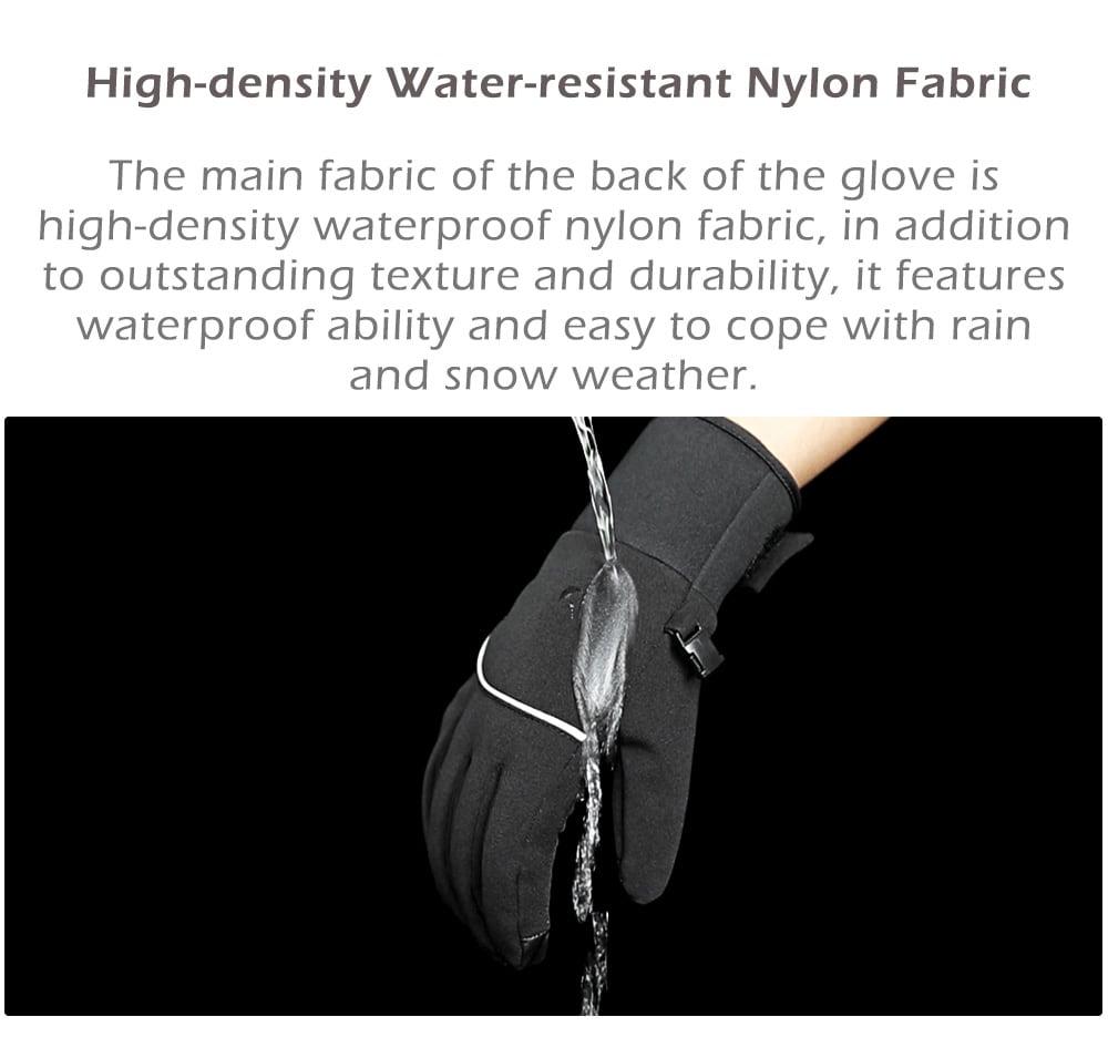 Xiaomi youpin QIMIAN Outdoor Plus Velvet Warm Touch Screen Gloves- Black M