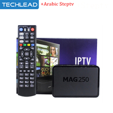 Mag250 OTT network set top box linux TV Box m3u with Arabic Italy Uk IPTV account germany US french Spain turkish TV europe code(China)