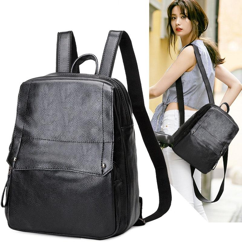Backpack female womens backpack  fashion leisure ladies backpack bag leather bag womens leather bag Luxury Women Backpacks<br>