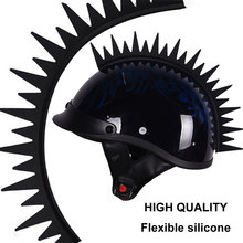 Punk Motorcycle Helmet Saw Blade Warhawk Mohawk for Motorcycles Sportbikes Dirt-Bikes Snowmobiles Cruisers and Gifts(China)