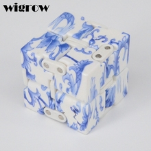 Wigrow Mini New Fashion Cube Fidget Cube Anti Stress Magic Finger Hand Cube Desk Game Toys Metal Adult AHAD Tiny Gift(China)