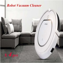 4pcs/lot Home Intelligent Robot Vacuum Cleaner Wet and Dry Clean+HEPA Filter,Remote Control,Self Charge, ROBOT ASPIRADOR