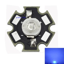 10PCS 3W Royal Blue 450-455NM High Power LED Emitter 700mA with 20mm Star Base for Plant Grow/Aquarium