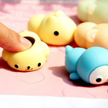New Style Mochi Cute Animals Squishy Toys Lazy Sleep Cat Phone Straps Accessories Soft Squeeze Kid Toy Fun Joke Gift(China)
