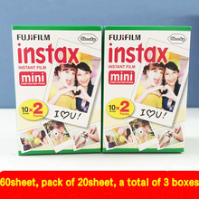 Origina 40pcs fujifilm instax mini 8 film 20 sheets for camera Instant mini 7s 25 50s 90 Photo Paper White Edge 3 inch wide film