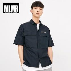 Мужская рубашка с короткими рукавами из 100% хлопка