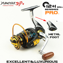 Fishing reel 13 Ball Bearings 5.5:1 Gear Ratio Metal main body foot Super strong Spinning reel for fishing Rod Combo(China)