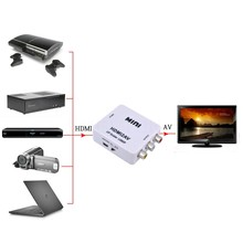 Dinto Hot High Quality HDMI To AV/CVSB Video Adapter HDMI Interface HD Video HDMI to RCA/AV Converter Box Connectors for HDTV(China)
