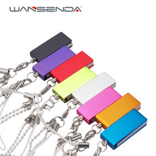 Stainless waterproof tiny usb flash drive 4GB 8GB 16GB 32GB 64GB colorful fashion Pen Drive U disk Memory Stick Pendrive(China)