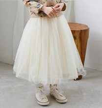 2017 New Girls TuTu Skirt  Fashion Korea Girl Tulle Skirt Cute Childrens Clothes Girls Long Skirts 2-6Y Kids clothing