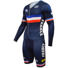 ALE France Team 2017 Cycling Jerseys Long Sleeves Cycling Skinsuit Set Triathlon Conjoined Ropa Ciclismo Cycling Jumpsuit(China)