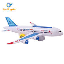 LeadingStar Children's Lighting Music Electric Aircraft Toy Air Bus Airliner Model zk30(China)