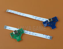 4pcs=2sets LED Power Charge Board socket Ribbon Cable for Sony PS4 Wireless 12pin 14pin board and 12PIN 14PIN cable