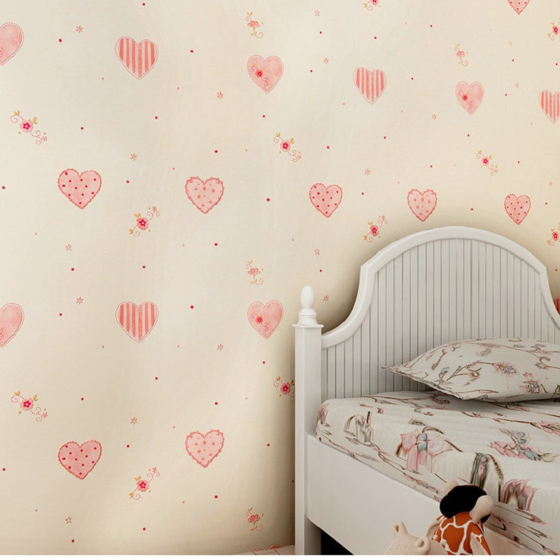 0.53M x 10M 3D heart shape wallpaper Textured Feature Wall Paper Wallpaper for kids room papel de parede Wallpaper Rolls<br>