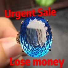 BIG On sale! Urgent Sale! fine jewelry USA size 7 real certificated 18K gold 100% natural diamonds topaz female ring for women(China)