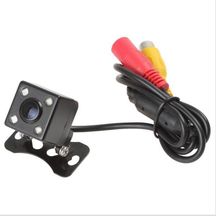 Free Shipping, Waterproof 4 LED Night Vision Car hd CCD Rear View Camera Reverse Camera For Auto Parking Monitor