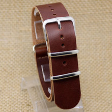 20mm Dark Brown Wide Genuine Leather Band Pin Buckle Wrist Strap for Men Women Watch Classic Soft Bracelet Replacement(China)