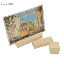1pc Natural Wooden Card Holder Seat Folder Photo Holder Wedding Place Card Table Number Holder Organizer Festive Party Supplies