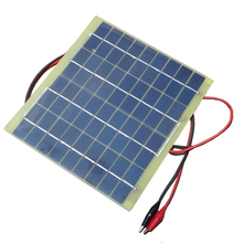 Universal Portable 5W 18V 290mAh Solar Panel Solar Cells Battery Phone Charger Battery Mobile Cell Phone Power(China)