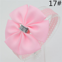 Baby girl hair bowknot ribbon Headband  newborn toddler bow flower Hair Band Handmade hair accessories for children
