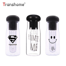 Transhome Fruit Juice Bottle 750ml Fruit Lemon Juice Infuser Plastic Unbreakable Korea Style Leak-proof BPA Free Water Bottles(China)
