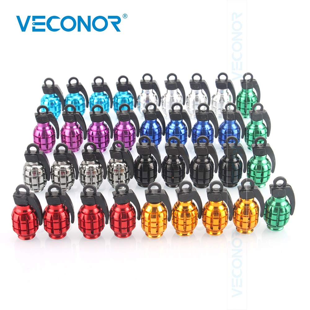4pcs valve caps tyre for car grenade-shaped decoration tire valves tyre muiti-colors valve covers color send randomly