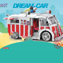 Xingbao 08004 1000 Pcs The Ice Cream Car Building Blocks Bricks Set Children Educational Toys Model Gifts